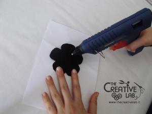 tutorial cerchietto feltro fiore bianco nero 14