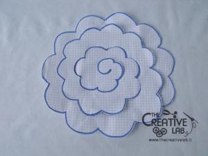 tutorial come fare fiore stoffa feltro 17