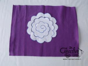 tutorial come fare fiore stoffa feltro 18