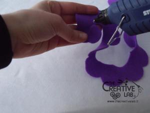 tutorial come fare fiore stoffa feltro 23