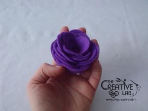 tutorial come fare fiore stoffa feltro