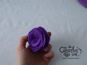 tutorial come fare fiore stoffa feltro 29