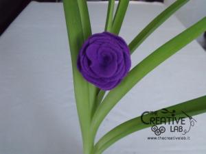 tutorial come fare fiore stoffa feltro 32