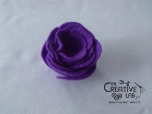 tutorial come fare fiore stoffa feltro 34