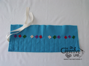 tutorial astuccio arrotolato roller pencil case 21
