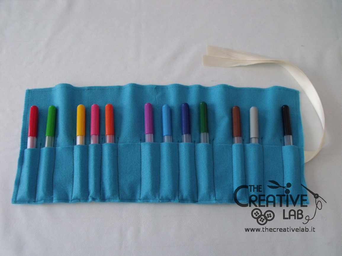 Estremamente TUTORIAL: come fare un astuccio arrotolato o roller pencil case  IK08