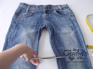 tutorial fare borsa riciclare vecchi jeans 07