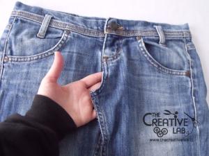 tutorial fare borsa riciclare vecchi jeans 13