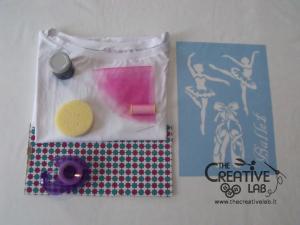 tutorial come decorare t shirt con stencil 01