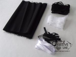 tutorial come fare cuffietta crestina gothic lolita headwear 02
