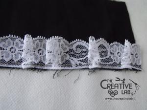 tutorial come fare cuffietta crestina gothic lolita headwear 07