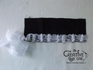 tutorial come fare cuffietta crestina gothic lolita headwear 08