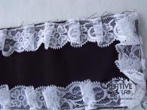 tutorial come fare cuffietta crestina gothic lolita headwear 11