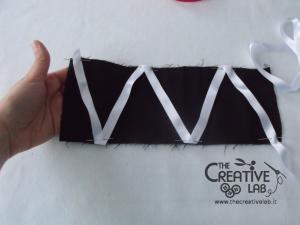 tutorial come fare cuffietta crestina gothic lolita headwear 18