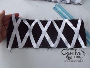 tutorial come fare cuffietta crestina gothic lolita headwear 20