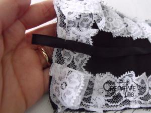 tutorial come fare cuffietta crestina gothic lolita headwear 26