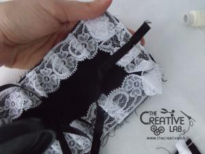 tutorial come fare cuffietta crestina gothic lolita headwear 28