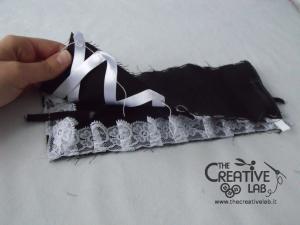tutorial come fare cuffietta crestina gothic lolita headwear 30
