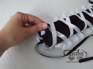 tutorial come fare cuffietta crestina gothic lolita headwear 38