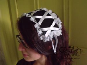 tutorial come fare cuffietta crestina gothic lolita headwear 60