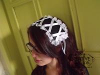 tutorial come fare cuffietta crestina gothic lolita headwear