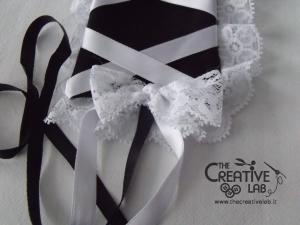 tutorial come fare cuffietta crestina gothic lolita headwear 67