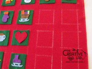 tutorial come fare calendario avvento feltro fai da te diy 08