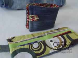 come fare portafoglio portatessere di stoffa tutorial 77