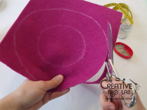 tutorial diy felt basket jewelry case 13