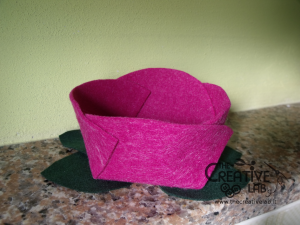 tutorial diy felt basket jewelry case 49