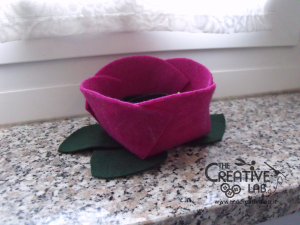 tutorial diy felt basket jewelry case 56