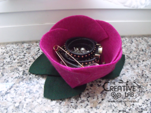 tutorial diy felt basket jewelry case 58