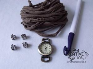 tutorial cinturino orologio fettuccia fai da te 01