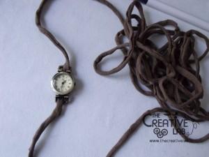 tutorial cinturino orologio fettuccia fai da te 09