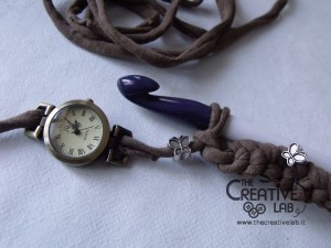 tutorial cinturino orologio fettuccia fai da te 23
