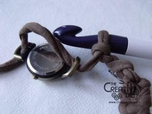 tutorial cinturino orologio fettuccia fai da te 25