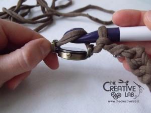 tutorial cinturino orologio fettuccia fai da te 27