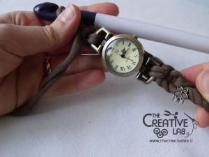 tutorial cinturino orologio fettuccia fai da te 29