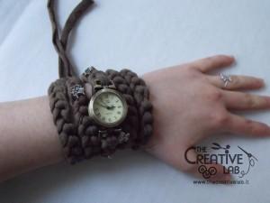 tutorial cinturino orologio fettuccia fai da te 32