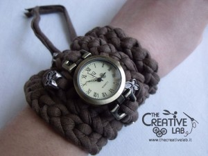 tutorial cinturino orologio fettuccia fai da te 37