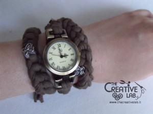 tutorial cinturino orologio fettuccia fai da te 43