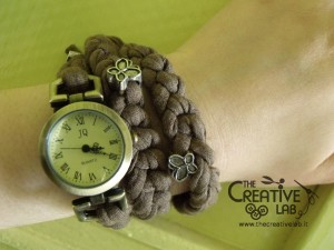 tutorial cinturino orologio fettuccia fai da te 47