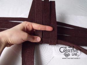 tutorial woven felt basket diy 11