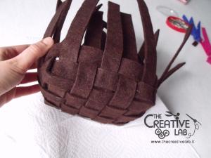 tutorial woven felt basket diy 20