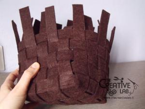 tutorial woven felt basket diy 22