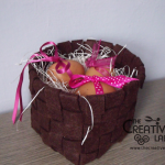 Tutorial diy woven felt basket