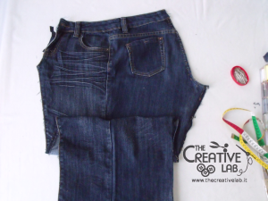 tutorial custodia porta pc laptop fai da te riciclare jeans diy 01