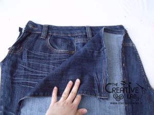 tutorial custodia porta pc laptop fai da te riciclare jeans diy 07