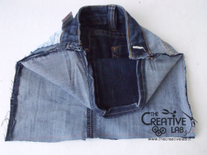 tutorial custodia porta pc laptop fai da te riciclare jeans diy 09
