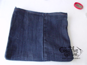 tutorial custodia porta pc laptop fai da te riciclare jeans diy 18